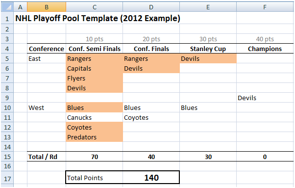nhl playoff pool